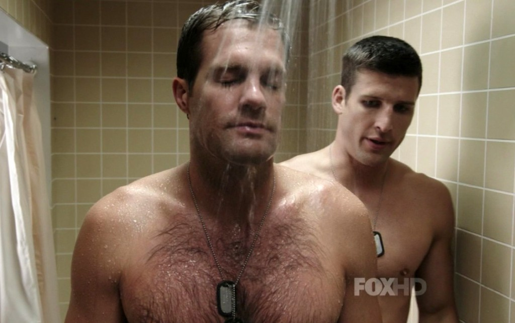 Parker-Young-and-Geoff-Stults-in-Enlisted-Episode-1.03-01