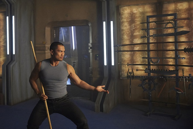 """DARK MATTER -- """"Episode Three"""" Episode 103 -- Pictured: Alex Mallari Jr. as Four -- (Photo by: Russ Martin/Prodigy Pictures/Syfy)"""