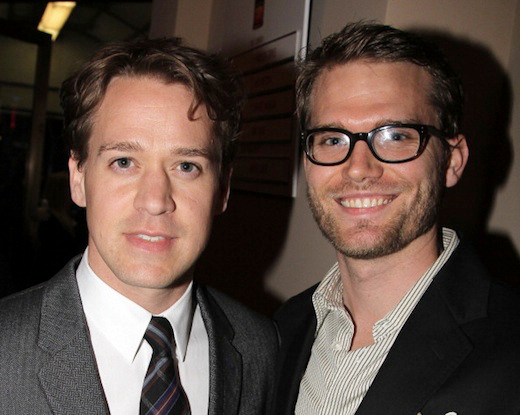 "NEW YORK, NY - OCTOBER 13:  T.R. Knight and boyfriend Patrick attend the ""Who's Afraid Of Virginia Woolf?"" Broadway Opening Night at The Booth Theatre on October 13, 2012 in New York City.  (Photo by Bruce Glikas/FilmMagic)"